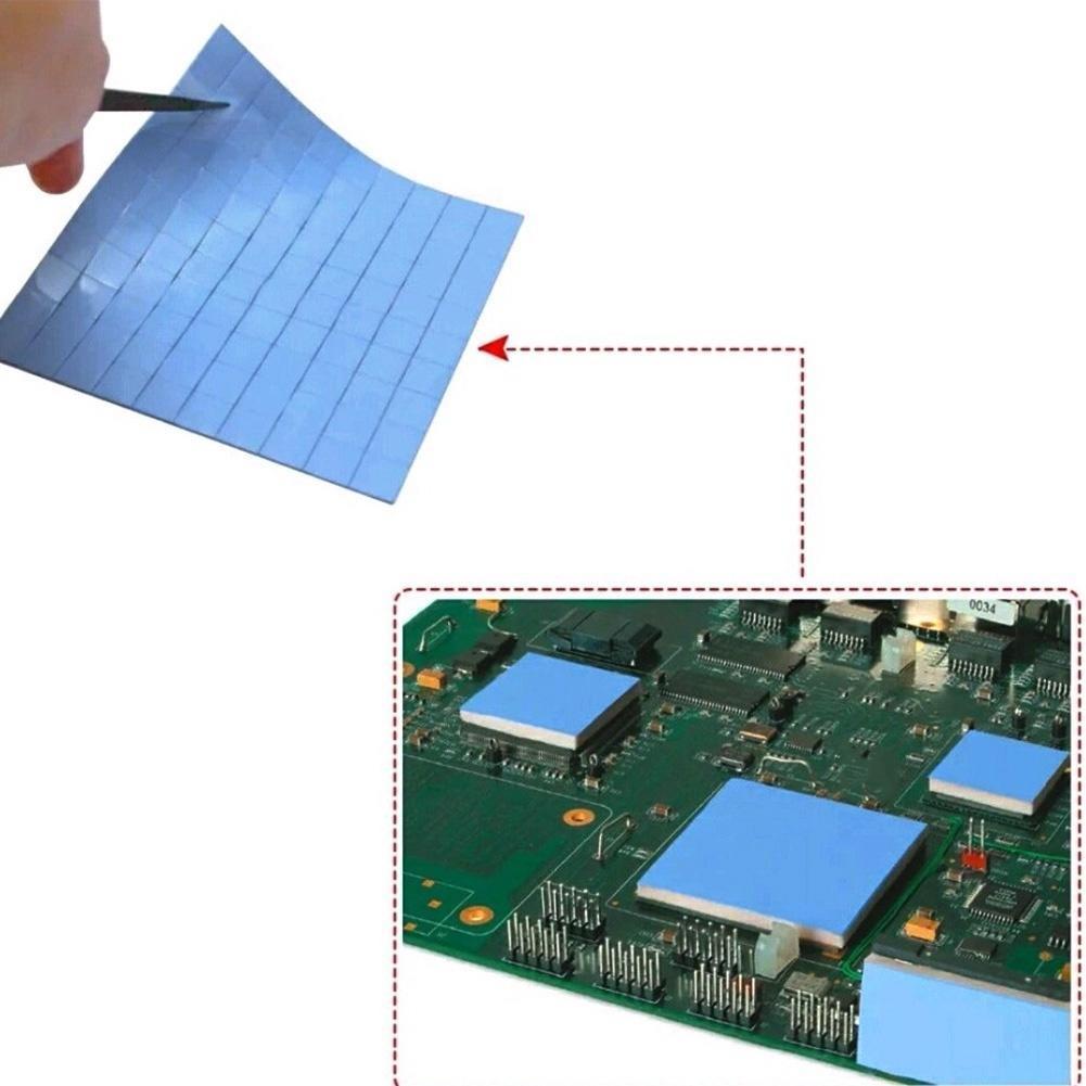 100pcs 10 x 10 x 1mm 10mm IC Chip Thermal Conductive Pads Heatsink Silicone Pad