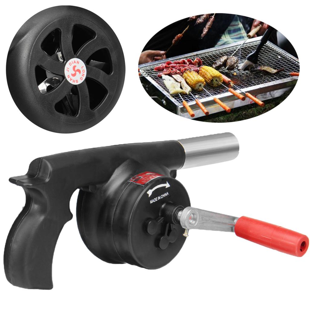 Manivelle Fan Outdoor barbecue à combustion-Support grille de cuisson Blower