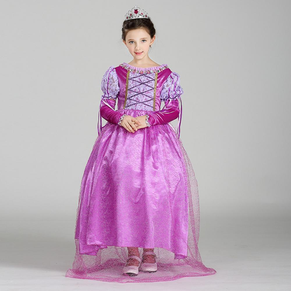 Niños niña Princesa enredados Rapunzel Cosplay fantasía Halloween ...