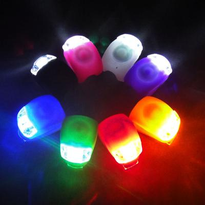 1PCS Mountain Bike Bicycle Silicone Light Cycling Accessories Decoration LED Flashlight Front / Rear Lamp Waterproof