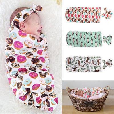 Newborn Baby Boy Girl Infant Swaddle Wrap Swaddling Blanket Sleeping Bag