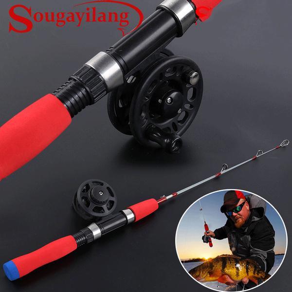 Sougayilang Ultralight Winter Shrimp Ice Fishing Rod Portable Winter Fishing Rod
