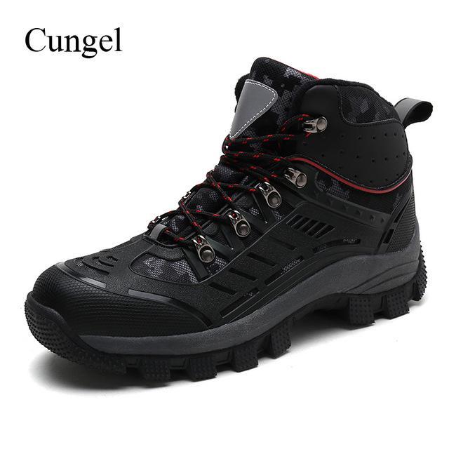 Cungel reflectantes hombres al aire libre senderismo zapatos zapatos zapatillas de Trekking impermeable resistente al desgaste de la seguridad