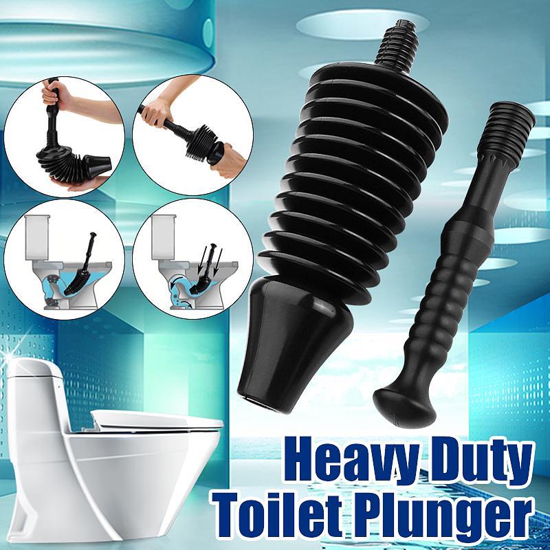 Powerful Toilet Plunger High Pressure 11x More Power Drain Easy Clean Detachable
