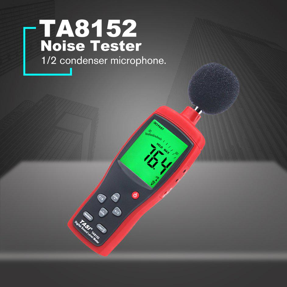 Color : Red Gulakey Mini Noise Meter Volume Detection Meter Decibel Meter Noise Tester Noise Meter Sound Level Meter