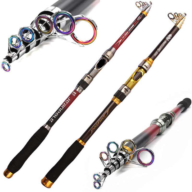 Telescopic Fishing Rod 2.1//2.4//2.7//3.0//3.6m High Quality Carbon Fiber Sea Carp