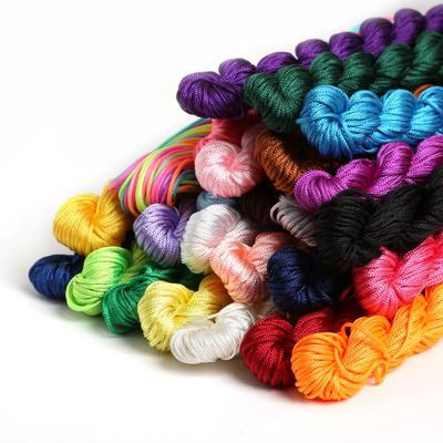 24M DIY Rope Nylon Cord Thread Chinese Knot Macrame Bracelet Braid String Knit Bead For DIY Necklace
