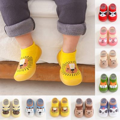 1 Pair Animal Style Anti-Slip Toddler Shoes Baby Socks Shoes Soft Rubber Shoes Boy Girl Fashion
