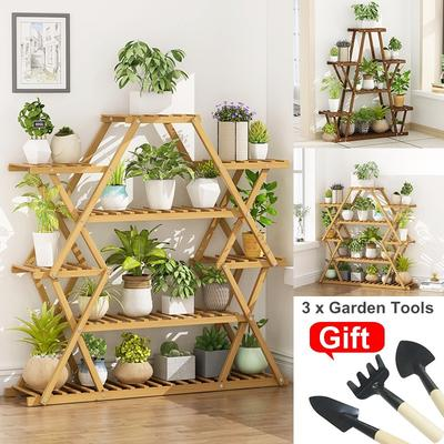 5 6 7 Tier Multi Tier Bamboo Plant Stand Flower Holder Stand Rack Shelf Display Rack Balcony Indoor Outdoor Garden Patio Bonsai Display Shelf Buy At A Low Prices On Joom E Commerce Platform