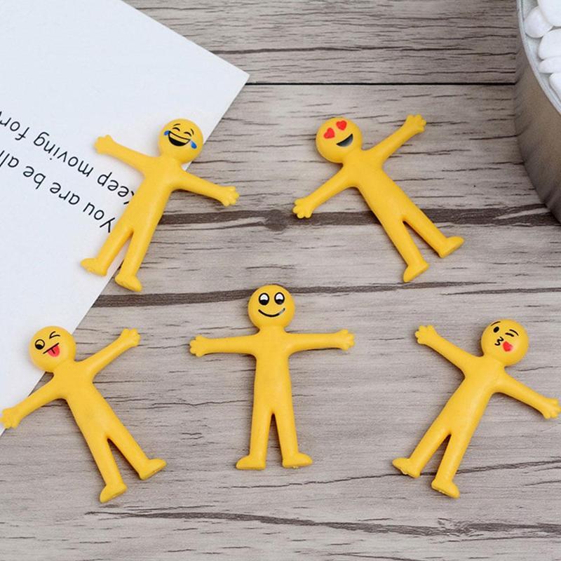 Sticky /&Stretchy Men Smiley Party Bag Filler Loot Kids Mini Stretch Man Toys