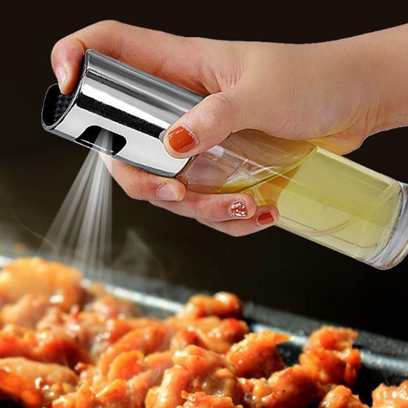 Оливковое масло Уксус Опрыскиватель пищевые продукты класса стекло спрей бутылка дозатор для приготовления салата Bbq фото