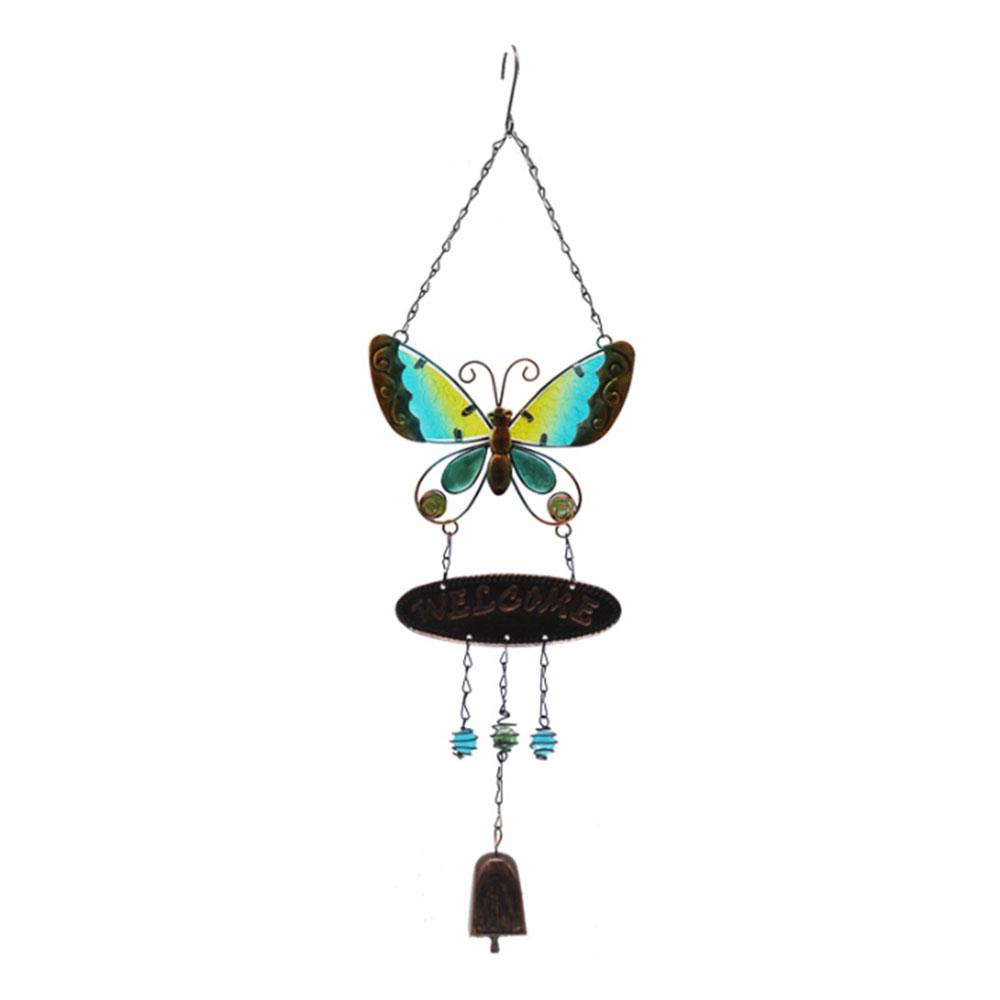 Creative Windbell Tube Butterfly Wind Bell Pendant Hanging Wind Chime Pendant