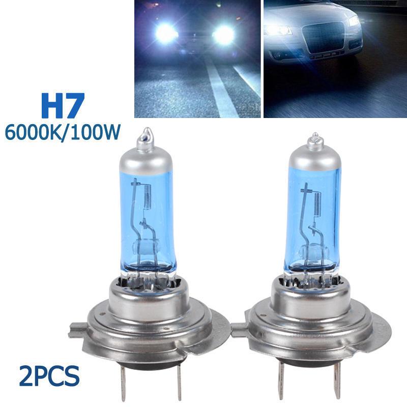 2x H7 Xenon Bulbs 100w 12v White To Fit Headlight Vauxhall Corsa MK3 1.4