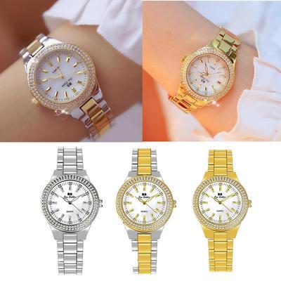 Ladies Wrist Watches Dress Gold Watch Women Crystal Diamond Watches Stainless Steel Silver Clock Women Montre Femme