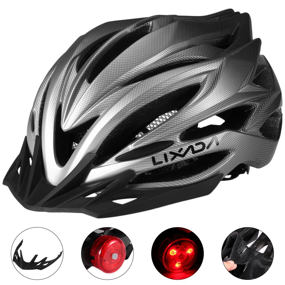 Foldable Cycle Bike Helmet by LID Rear Light and Self-adjusting White