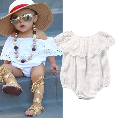 US Newborn Infant Baby Girl Lace Romper Jumpsuit Bodysuit Clothes Outfit Sunsuit
