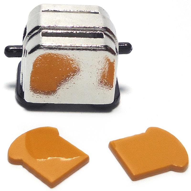 New 1//12 Dollhouse Miniature Decoration Bread Maker with 2 Piece Bread  TO