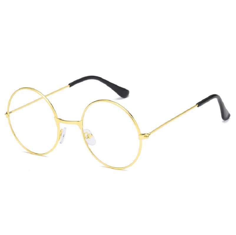 Anti-Blu-Ray Glasses Round Flat Mirror Retro Unisex Literary