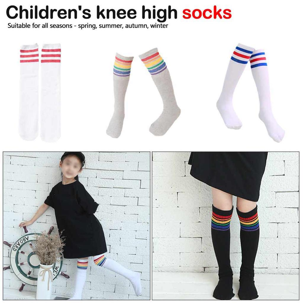 High Elasticity Girl Cotton Knee High Socks Uniform Hip Hop Dance Women Tube Socks