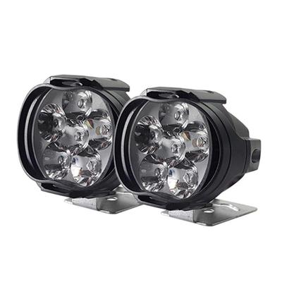 Waterproof Pair 30W 12-LED White Motorcycle Headlight Fog Light Lamp With Switch