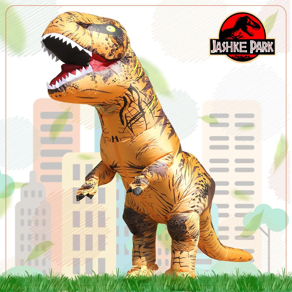 Adult Kids Unisex Dinosaur Inflatable Halloween Costume Fancy Dress Suit Outfit