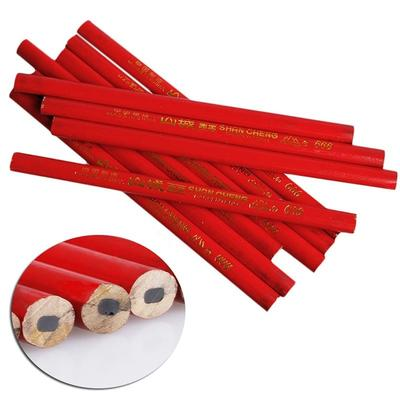 Office   Carpenter Drawing Writing Pencil Dual Head Red Blue 10pcs
