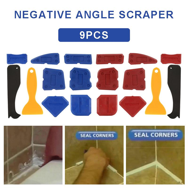 Details about  /9Pcs//Set Silicone Sealant Spreader Profile Applicator Tile Grout Tools Kit Home