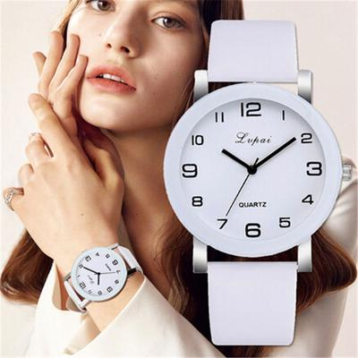 2020 New Woman's Watch Fashion Simple White Quartz Wristwatches Sport Leather Band Casual Ladies Watches Women Reloj Mujer