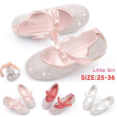 2022 New Little Girl's Adorable Sparkle Princess Party Dress Shoes Kids Girls Princess Sandals for 3-12 Years Old