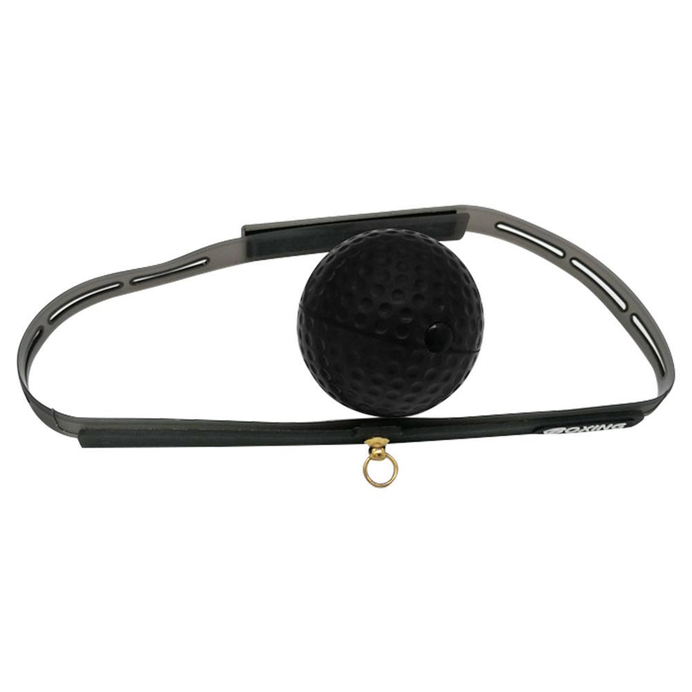 Black Boxing Reflex Speed Training Punch Ball Headband Elastic Rope Set Boxer