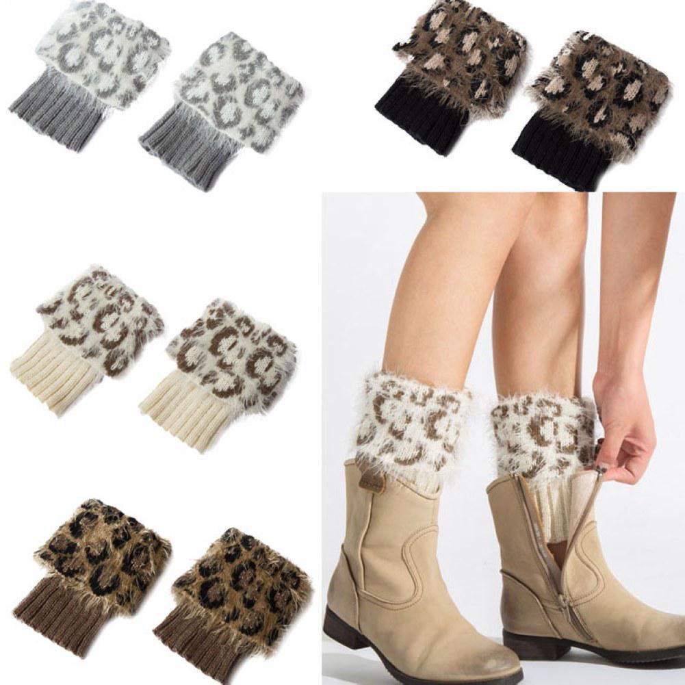 Las mujeres invierno caliente calentador de la pierna corta Crochet ...