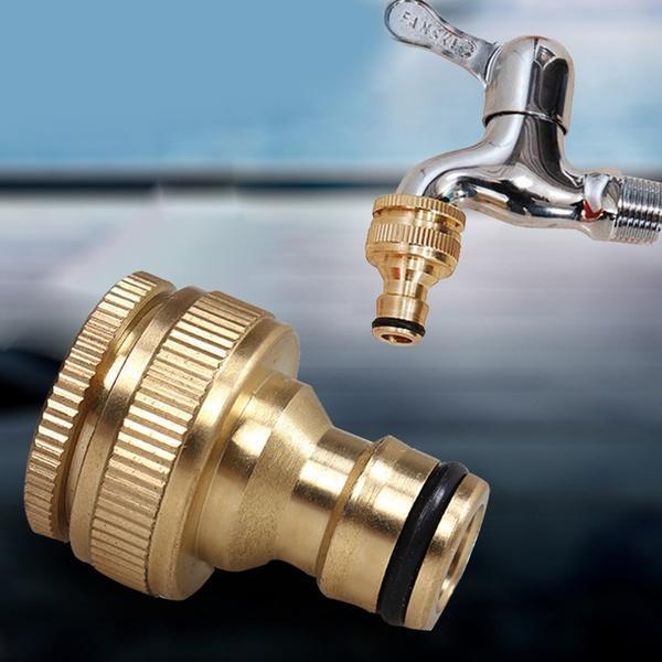 Латунные шланг Tap соединитель резьбовые сад воды трубы фитинги адаптер фото