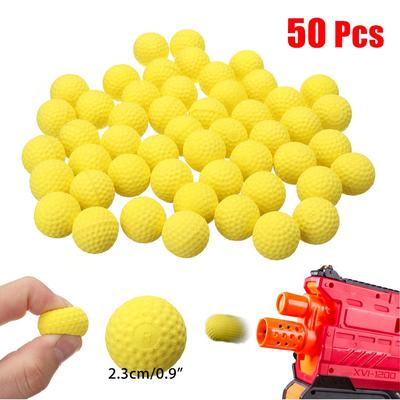 50x Round Refill Bullet Balls for Nerf Rival Apollo Zeus Blaster Toy Yellow