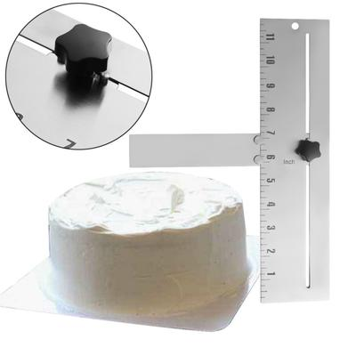 10PC Flexible Transparent Cake Scraper Baking  Plain Smooth Jagged Spatulas