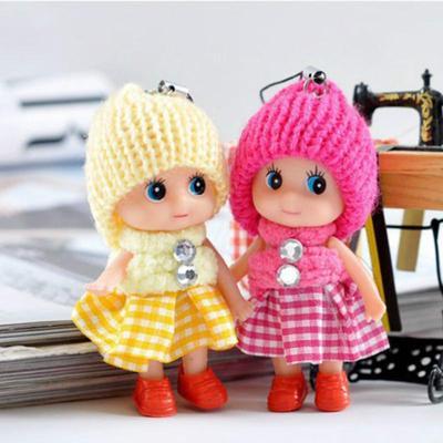 Mini Plush Animals Key Chain Cute Fashion Kids Plush Dolls Keychain Soft Stuffed Toys Keyring Baby For Girls Women