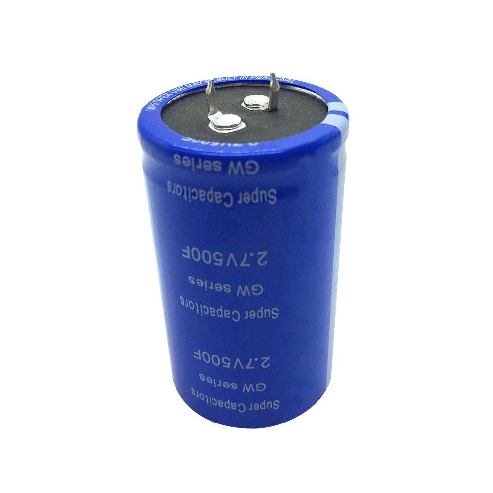Blue Super Farad Capacitor 2.7V 500F Capacitor Ultracapacitor High Frequency
