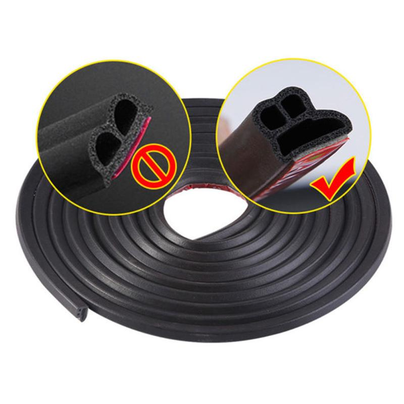 13*10mm Moulding Trim Hood Car Door Edge L Shape Rubber Weatherstrip Seal Strip