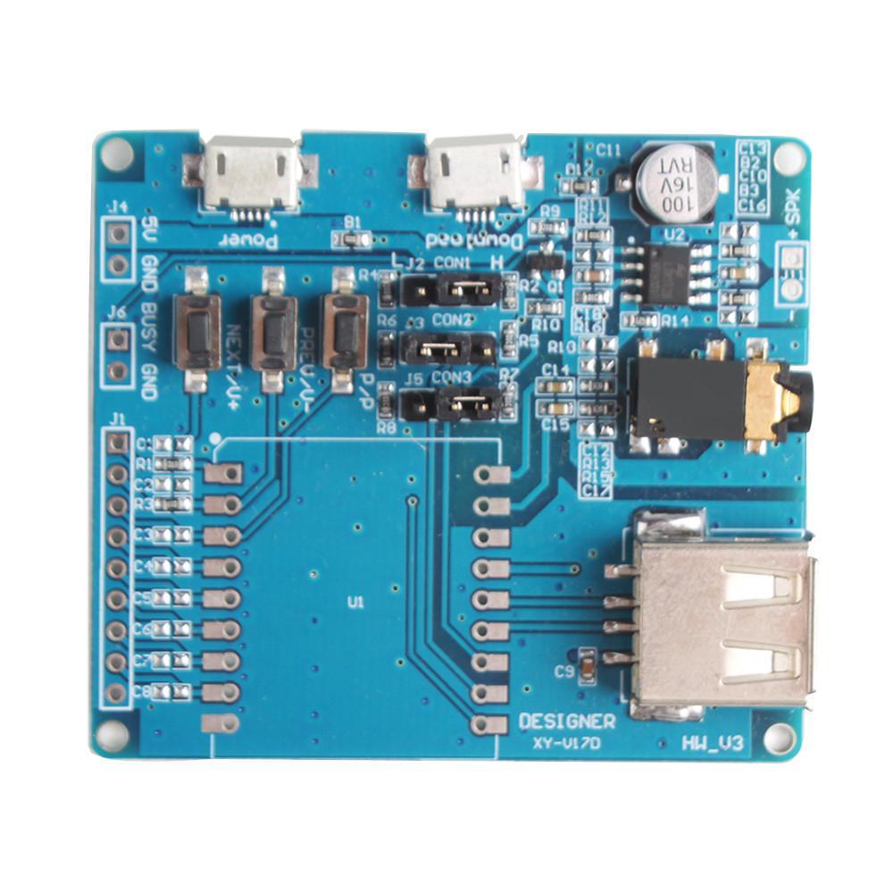 Serial Voice Control Board MCU IO Control SD//TF Card MP3 Sound ModuleUS
