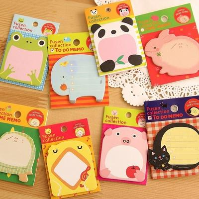 Cartoon Girl Sticky Notes Adhesive Memo Pad Planner Sticker Notepad Stationery