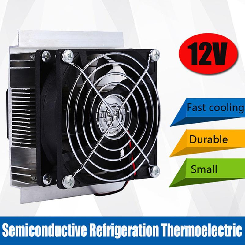 12V 6A DIY Thermoelectric Peltier Refrigeration Cooling System Cooler Fan