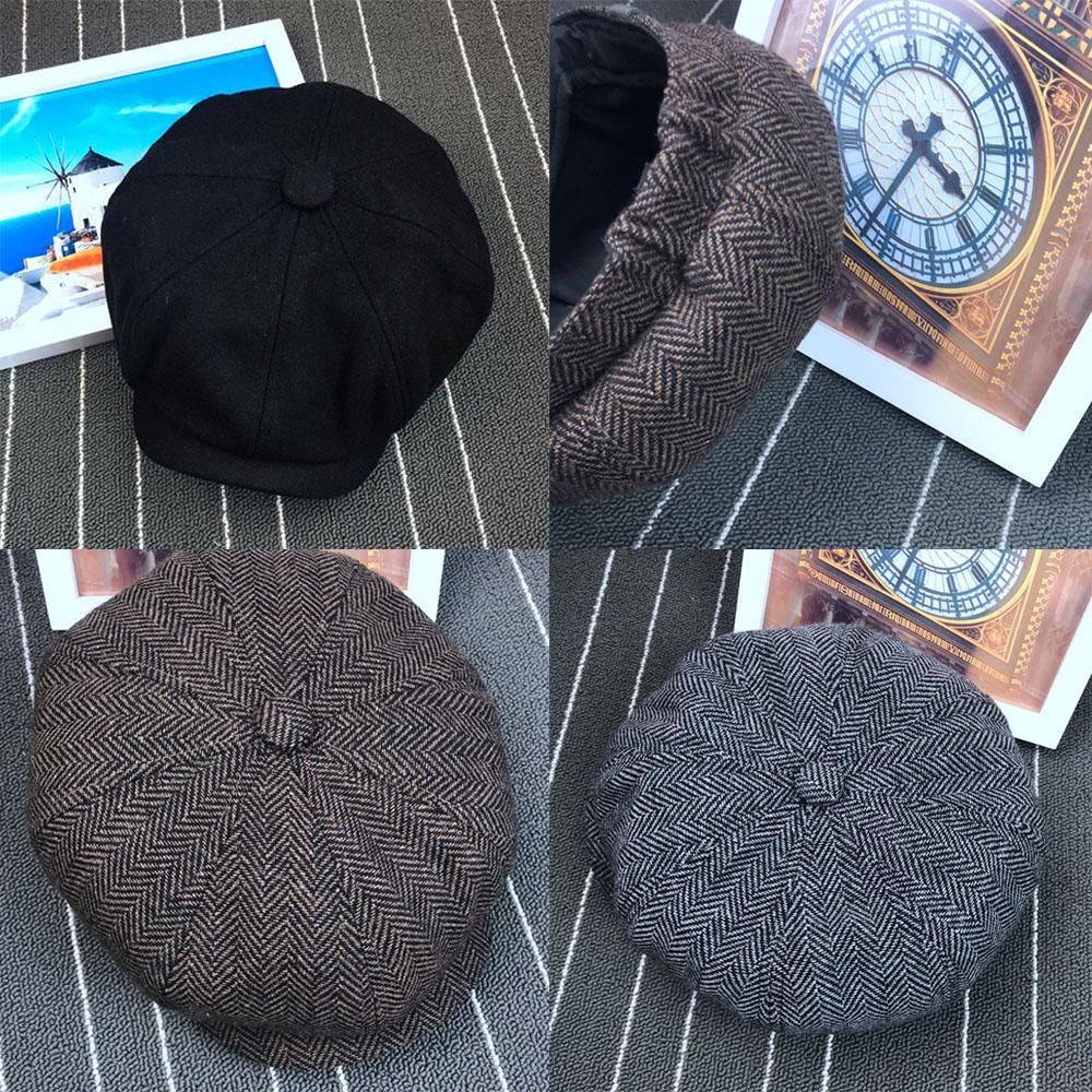 Cabbie Driving Men Ivy Newsboy Cap Duckbill Chapeau Beret Hat Wool Tweed