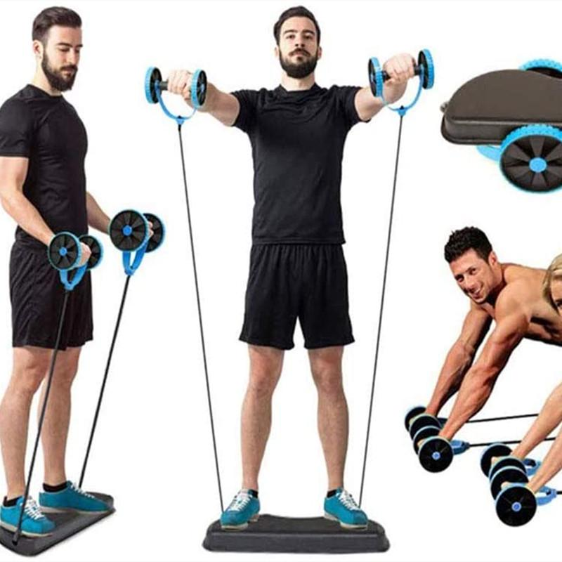 Multifunctional Exercise Equipment Ab Wheel Double Roller with Resistance  Bands Knee Mat Waist Slimming Trainer-buy at a low prices on Joom  e-commerce platform