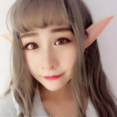 2//set Large Latex Pointed Elf Ears Hang On Ears Cosplay Party Dress Up Props