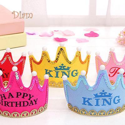 Tenfyer LED Light Up Princess King Happy Birthday Crown Cap Headband Christmas Party