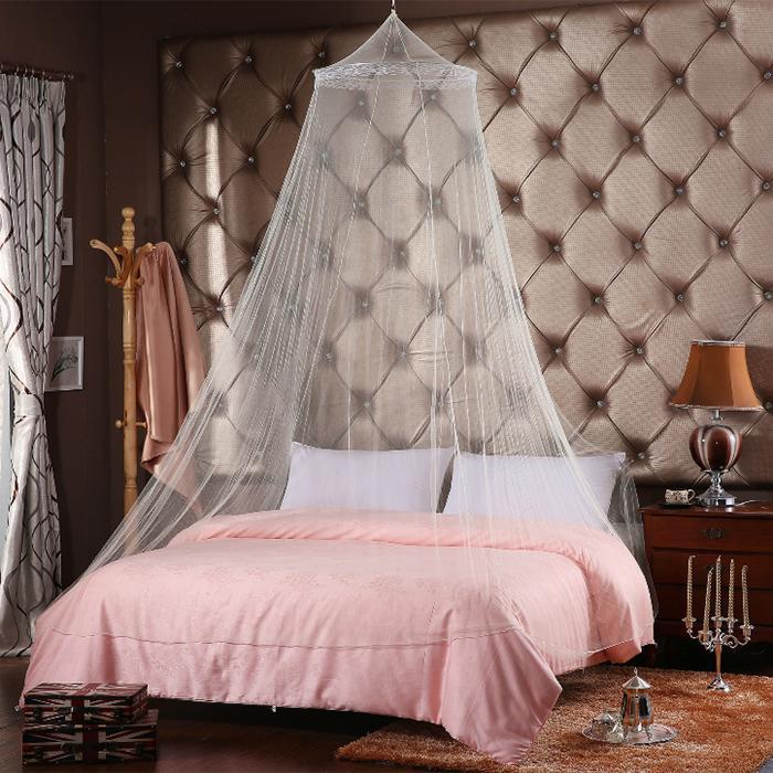 Weißen Bett Baldachin Vorhang Kuppel Netting Fliegen Insektenschutz ...