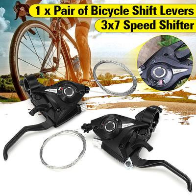 21 Speed RIGHT /& LEFT HAND Bike Bicycle GEAR GRIP SHIFT Shifter Cycling Grips
