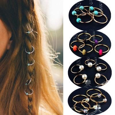 110pcs//Set Hair Braid Dreadlock Beads Braiding Hair Extension Accessories WYB