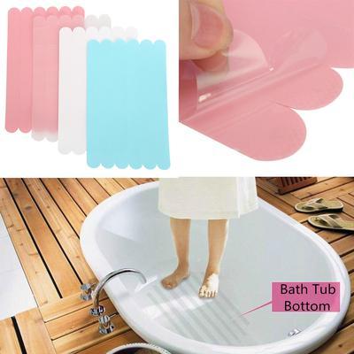 5pcs Bath Tub Shower Treads Non Slip Anti Skid Shower Safety Applique Strip Grip