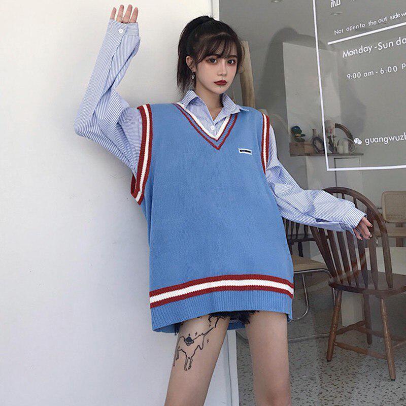 Женщины простой полосатый блузка корейской моды Топы Blusas случайные ладель Длинные рукава блузка – купить по низким ценам в интернет-магазине Joom