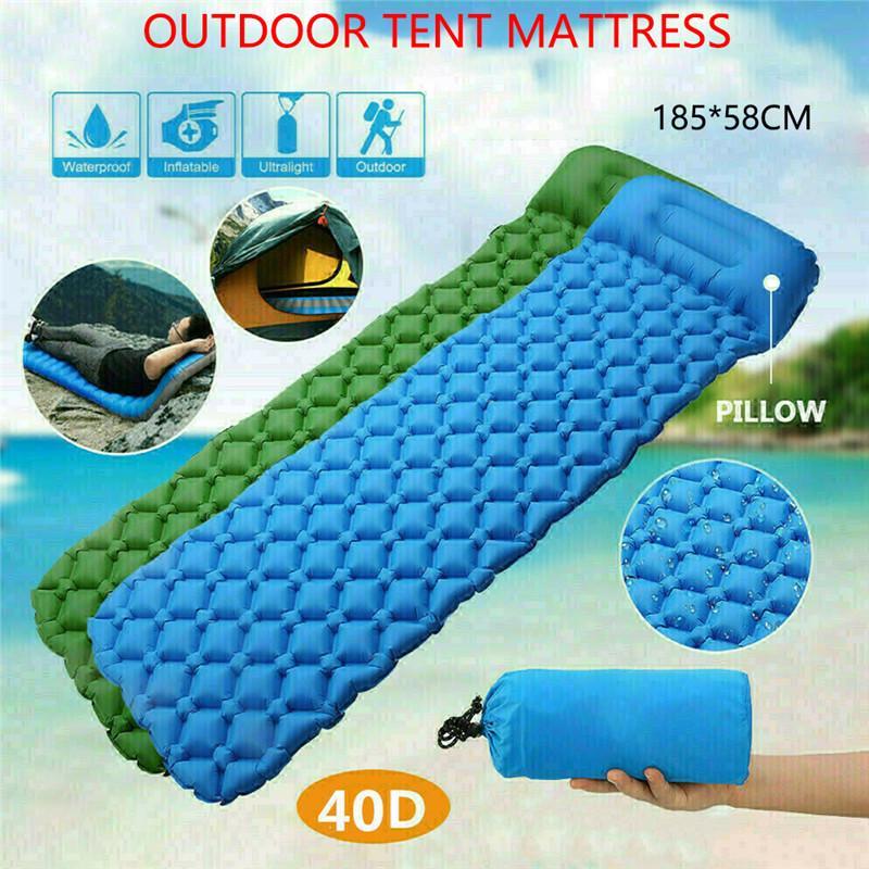 Inflatable Sleeping Pad Outdoor Camping Hiking Air Bed Mattress Mat Ultralight